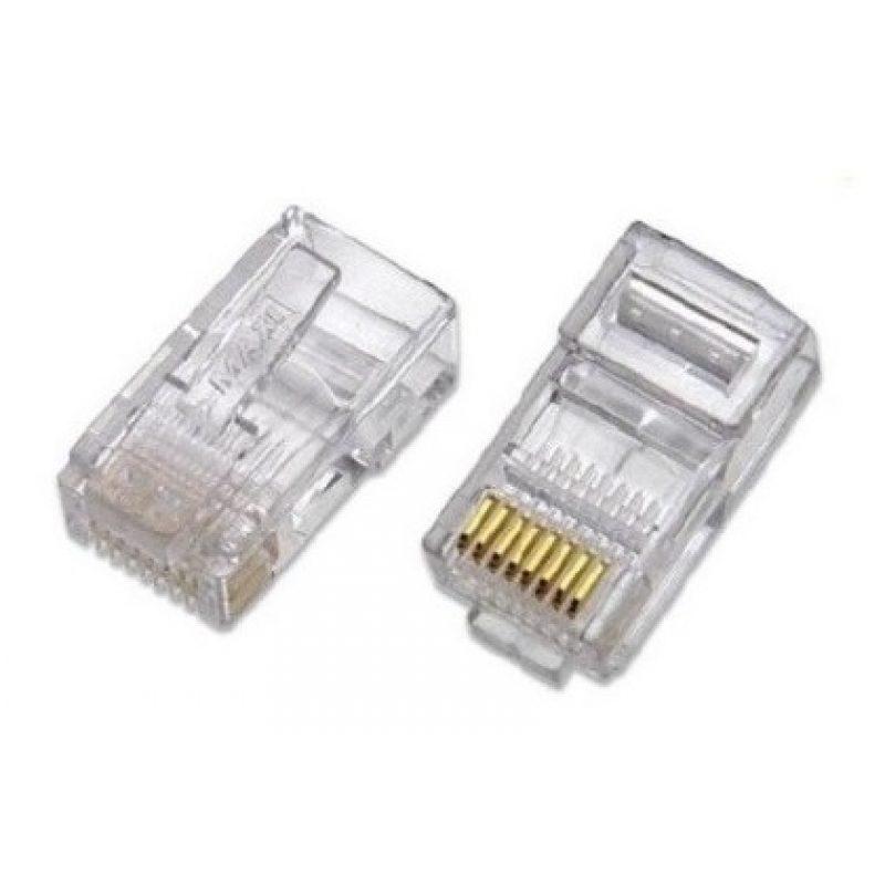 Fichas Conector rj45 Cat6 Para Cables de Red - Bolsa x10 Unidades 3