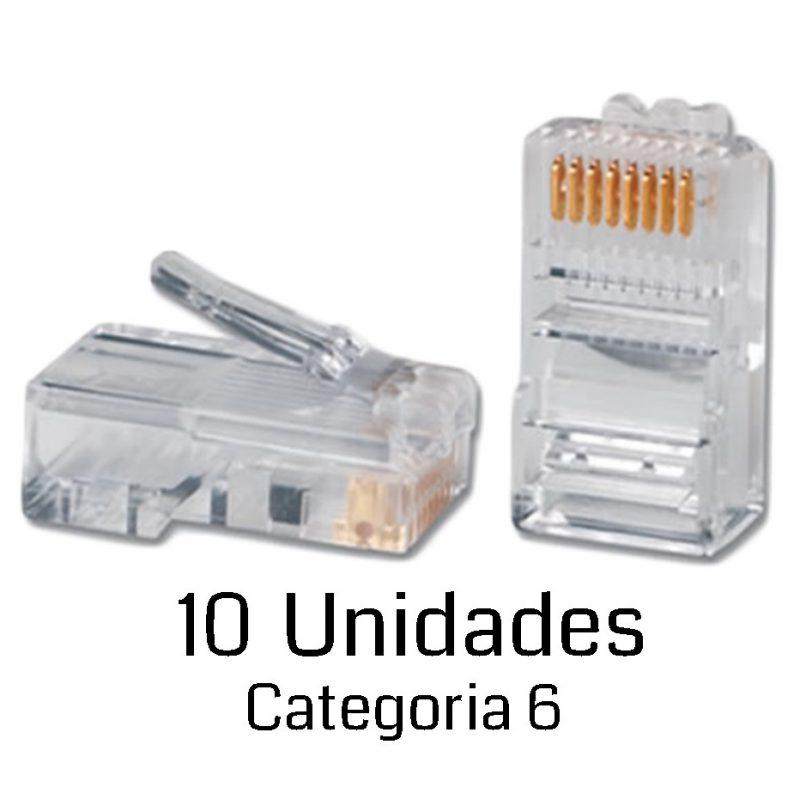 Fichas Conector rj45 Cat6 Para Cables de Red - Bolsa x10 Unidades 4
