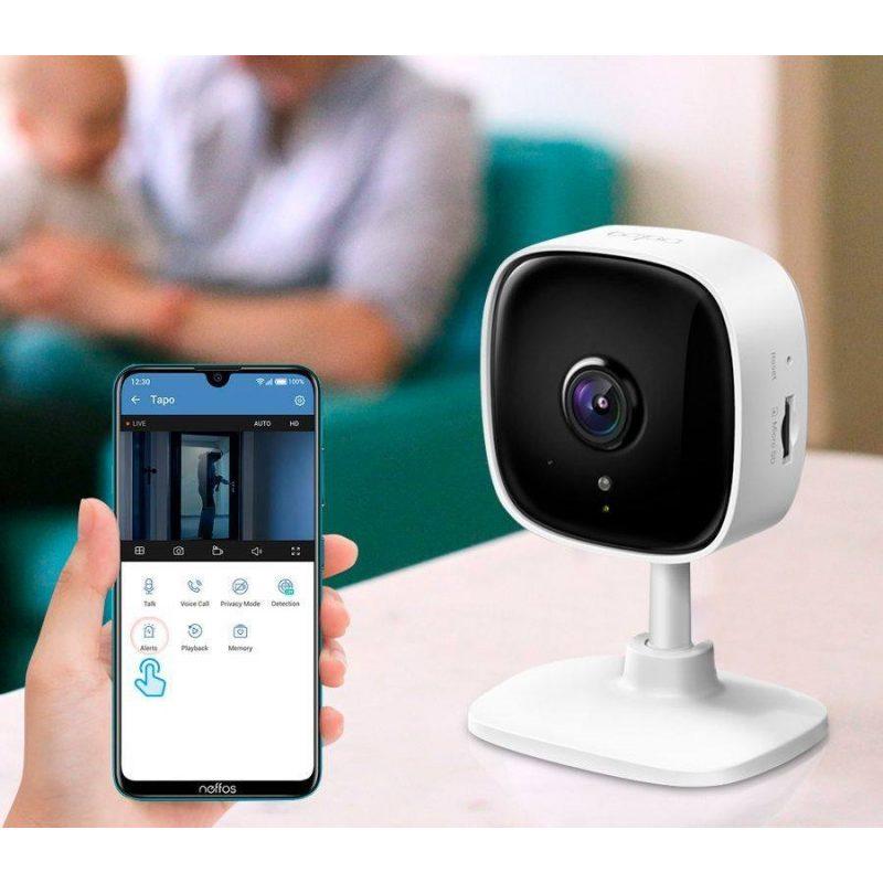 Camara ip WiFi Cloud TP-Link TAPO C100 Full HD Vision Nocturna Audio Vision y Grabación Remota 4