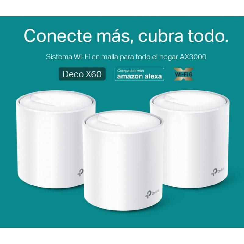 Router / Access Point / Repetidor WiFi TP-Link Deco X20 AC1800 Dual Band Tecnología MESH y WiFi 6 (Pack de 3 Unidades) 4