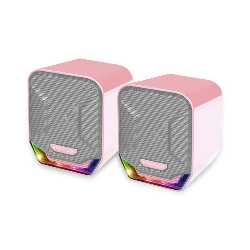 Parlante Gamer Fantech Sakura GS202 2.0 Chroma RGB USB/mini jack 3.5mm Rosado 1