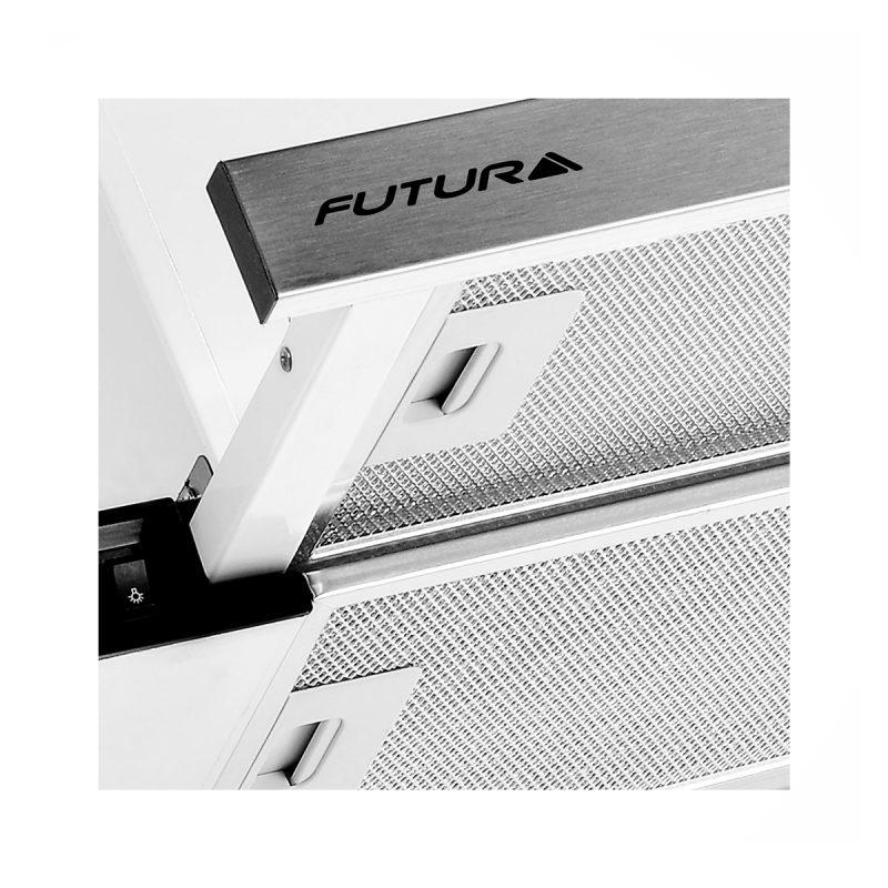 Campana Telescópica Futura FUT-C420TL Acero Inox 60cm Con Luz Y Filtro 2