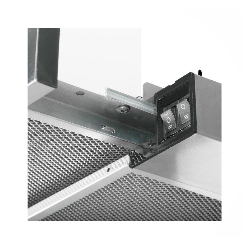 Campana Telescópica Futura FUT-C420TL Acero Inox 60cm Con Luz Y Filtro 3