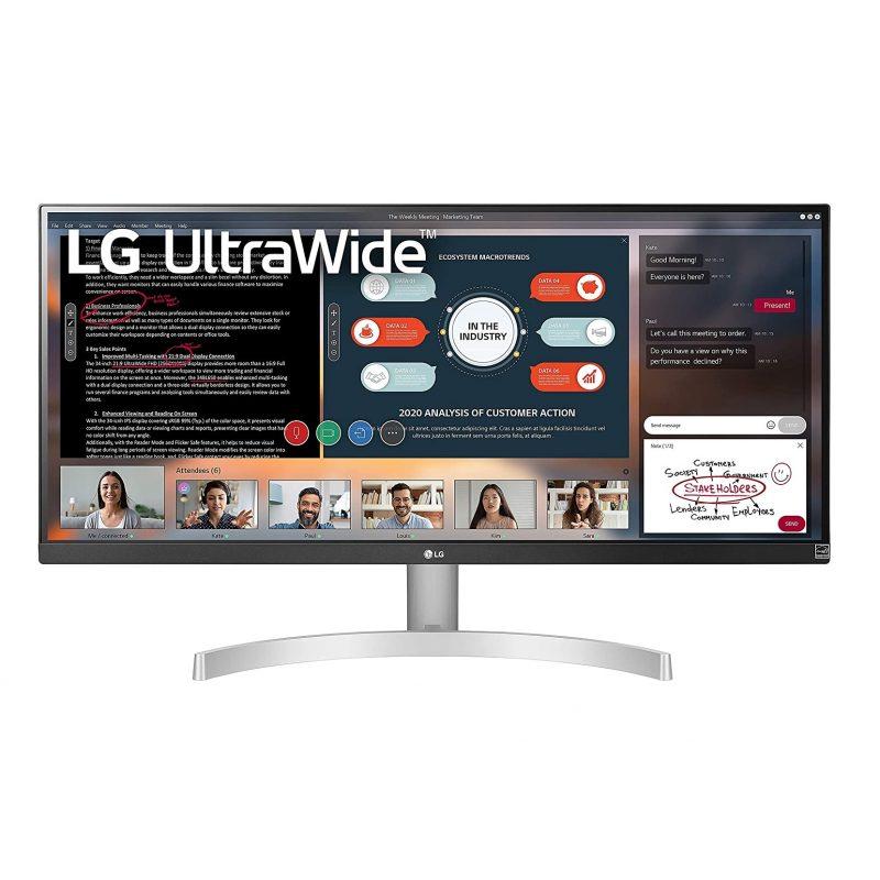 Monitor LED IPS LG 29WN600-W 29'' FHD 21:9 HDR10 FreeSync sRGB 99% 75Hz UltraWide y Delgado 1