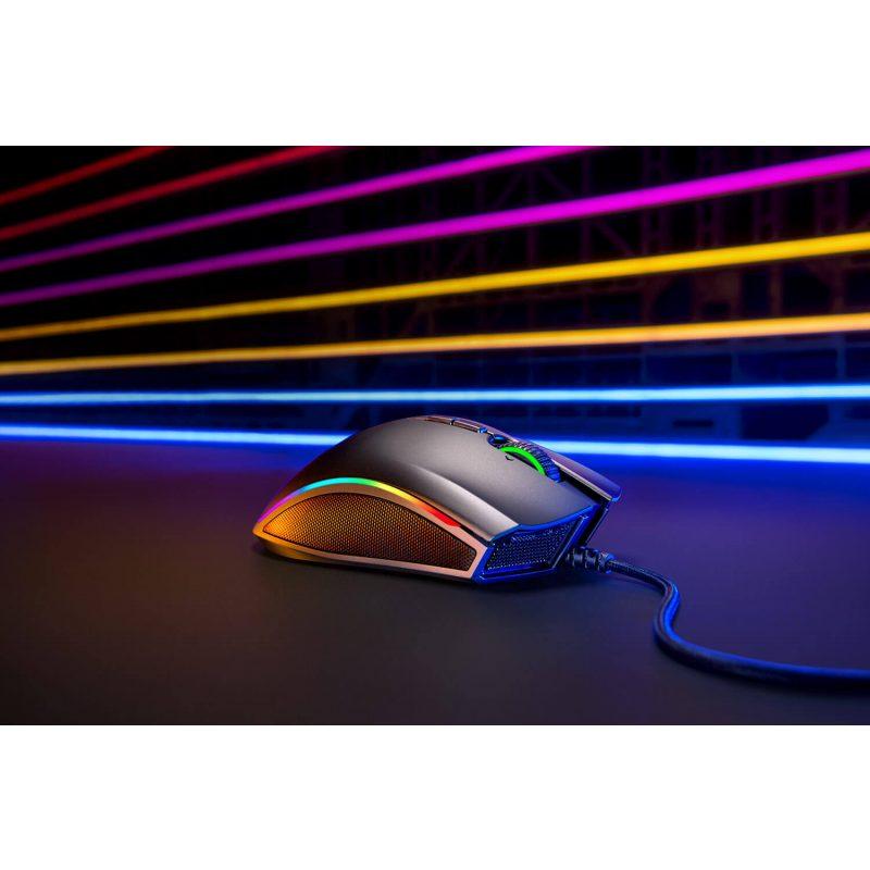 Mouse Gamer Razer Mamba Elite Chroma RGB 16.000Dpi 9 Botones programables; Interruptores mecánicos 4