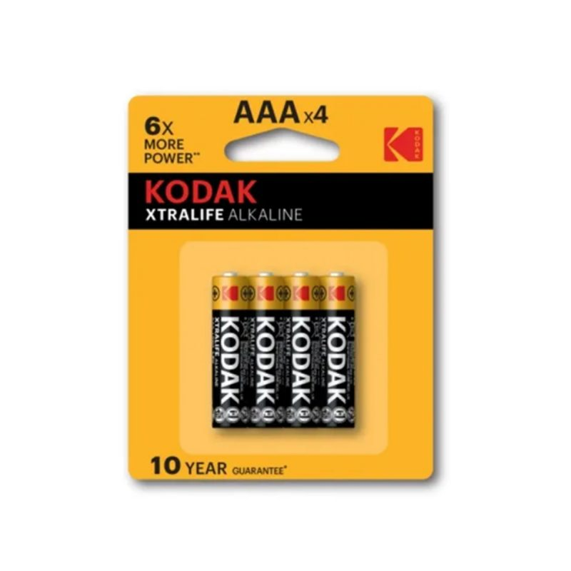 Pilas Alcalinas Kodak Xtralife 1.5V AAA Blister X4 Unidades 1