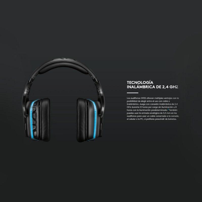 Auricular Inalambrico Gamer Profesional Logitech G935 Con Microfono Sonido Envolvente 7.1 PC Y Mac 4