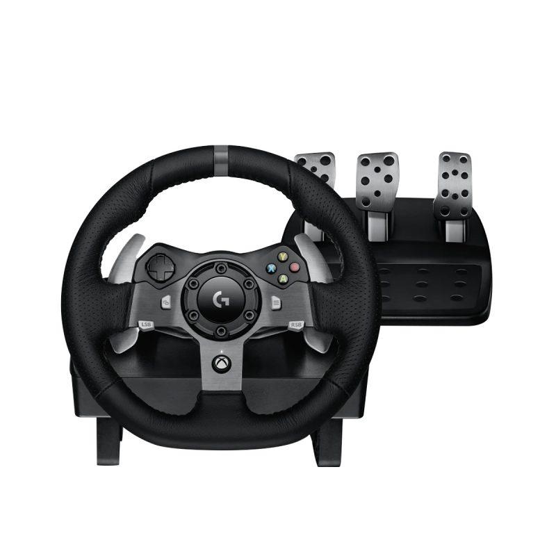 Volante Gamer Profesional Logitech G920 con Pedalera para PC y XBOX One 1