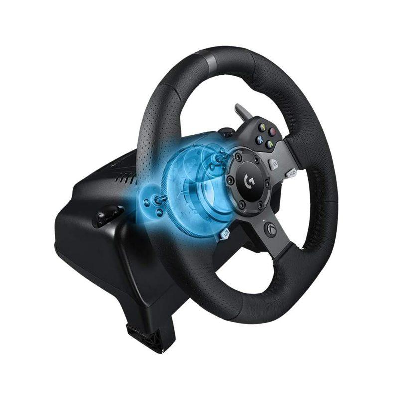 Volante Gamer Profesional Logitech G920 con Pedalera para PC y XBOX One 3