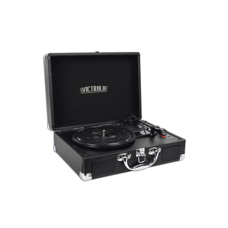 Victrola Tocadiscos Suitcase VSC-550BT-BLK Con Parlantes Entrada Aux Bluetooth Diseño Retro con Valija 3