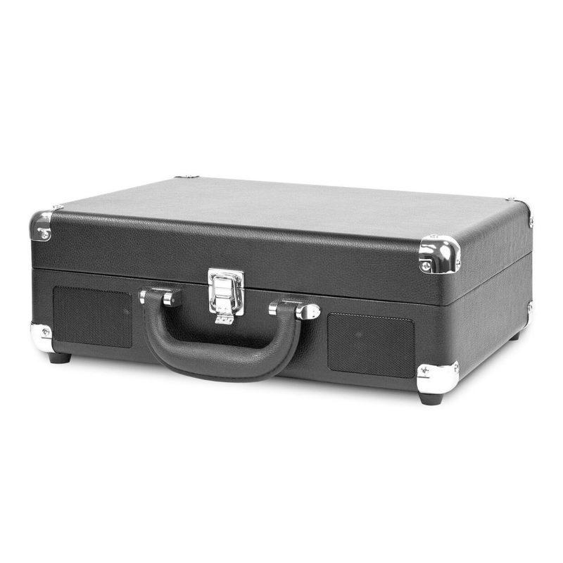Victrola Tocadiscos Suitcase VSC-550BT-BLK Con Parlantes Entrada Aux Bluetooth Diseño Retro con Valija 4