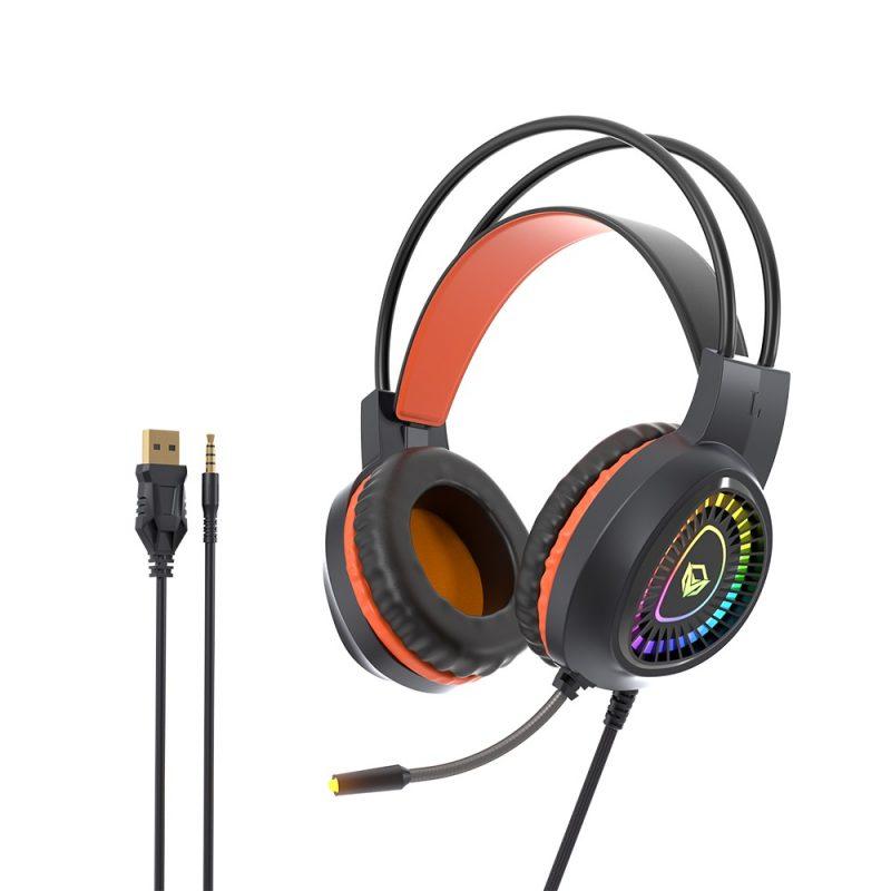Combo Kit Gamer Meetion MT-C505 Teclado Retroiluminado RGB + Mouse + Auricular + Mousepad 3