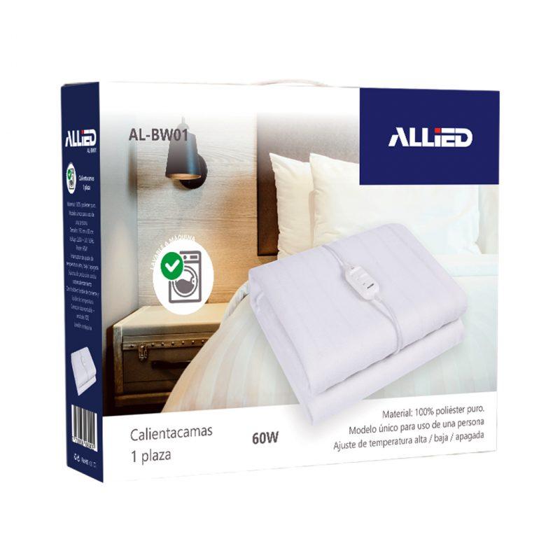 Calienta Cama Allied AL-BW01 1 Plaza; 3 Temperaturas; 100% Poliester 3
