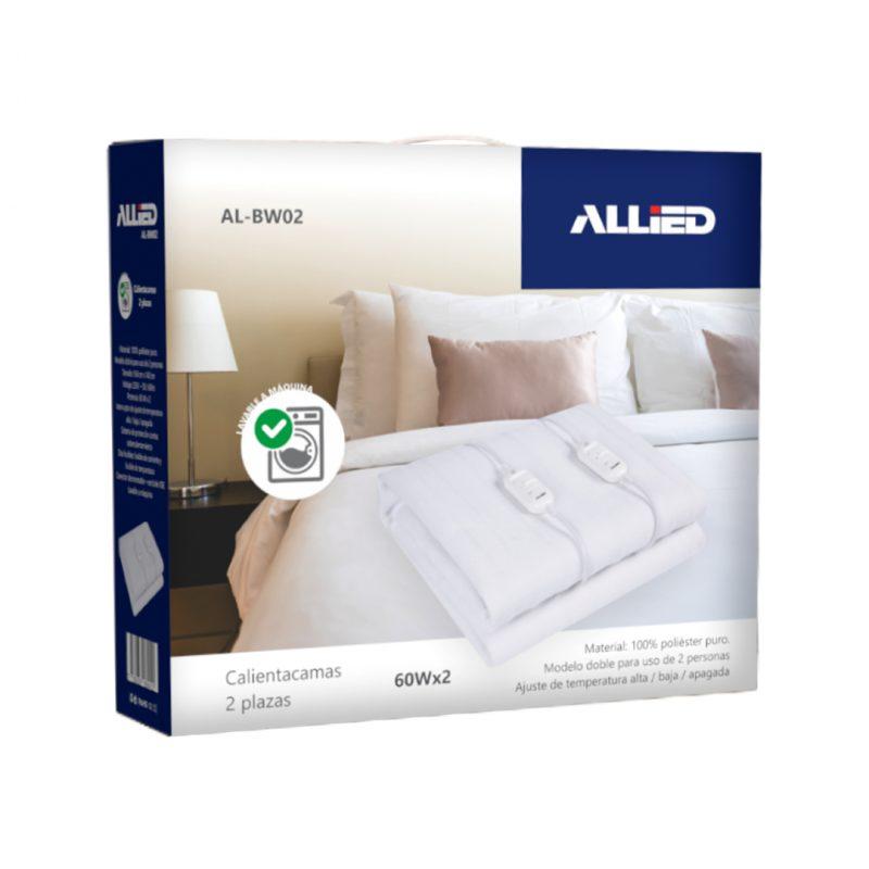Calienta Cama Allied AL-BW02 2 Plazas; 3 Temperaturas; 100% Poliester 3