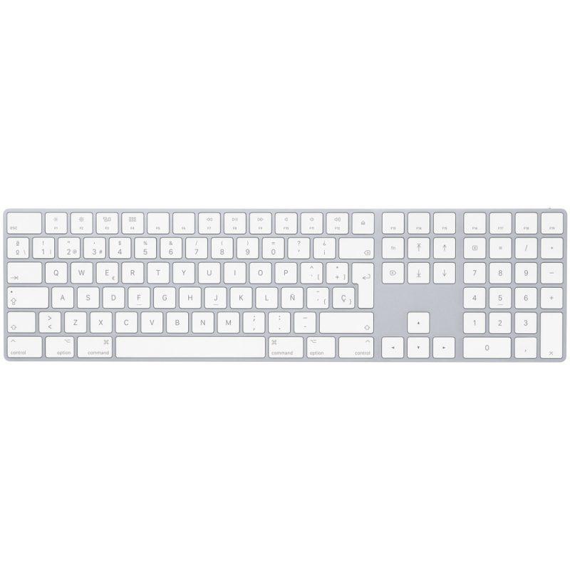 Teclado Apple MQ052E/A Magic Keyboard con Numérico Español - Silver 1