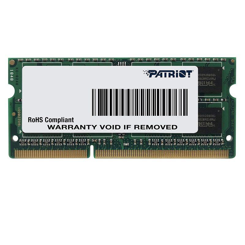 Memoria RAM SODIMM Patriot 8GB DDR3 1600 MHz PSD38G1600L2S 1