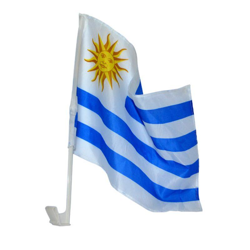 Bandera de Uruguay para Auto 44x30 cm. de Tela 1