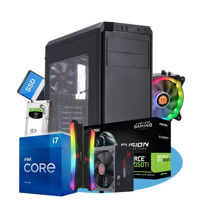 PC Computadora Intel i7-10700F 16GB DDR4 Rgb 500GB SSD + 2TB HDD Thermaltake Case+Cooler Video GTX1050Ti 4GB 1