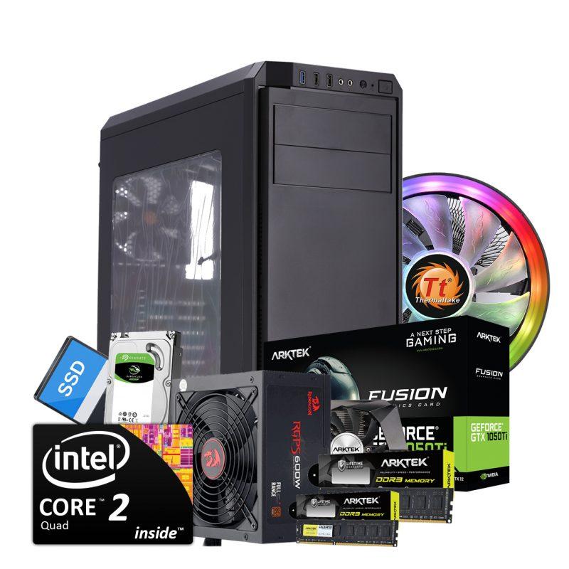 PC Computadora Core 2 Quad 8GB DDR3 240GB SSD + 2TB HDD Thermaltake Case+Cooler Video GTX1050Ti 4GB 1