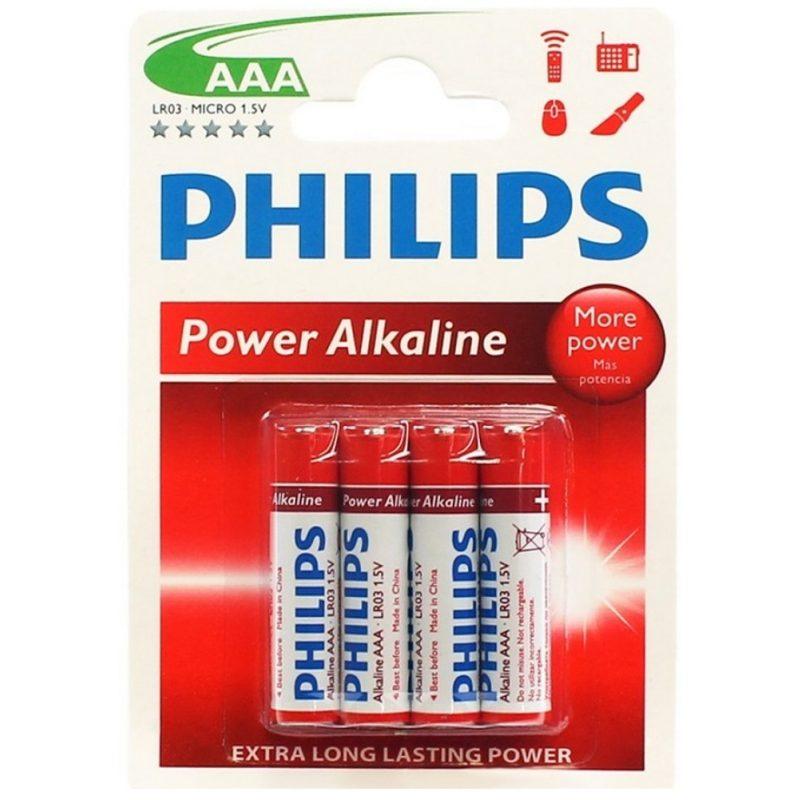 Pilas Alcalinas PHILIPS Power Life 1.5V AAA Blister X4 Unidades 2