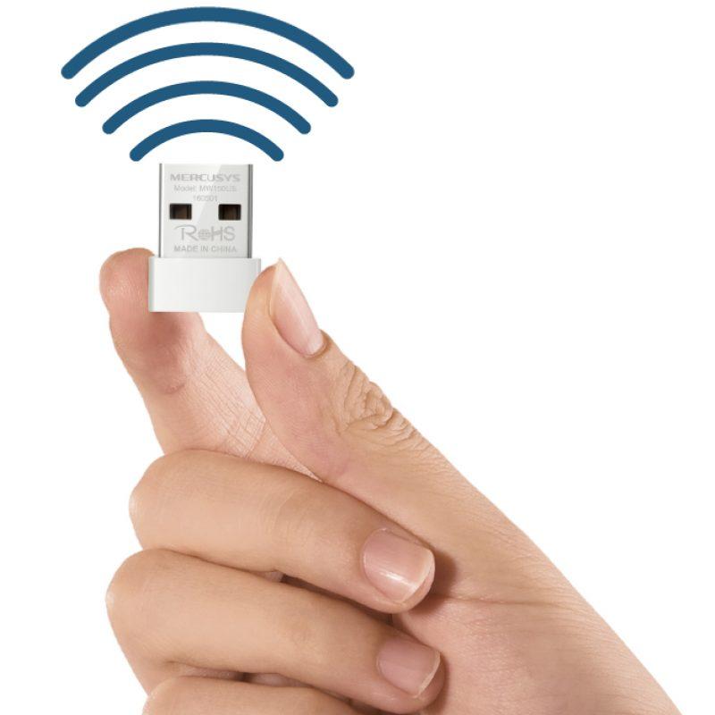 Adaptador Antena USB Receptor de WiFi Mercusys MW150US Nano N150 1