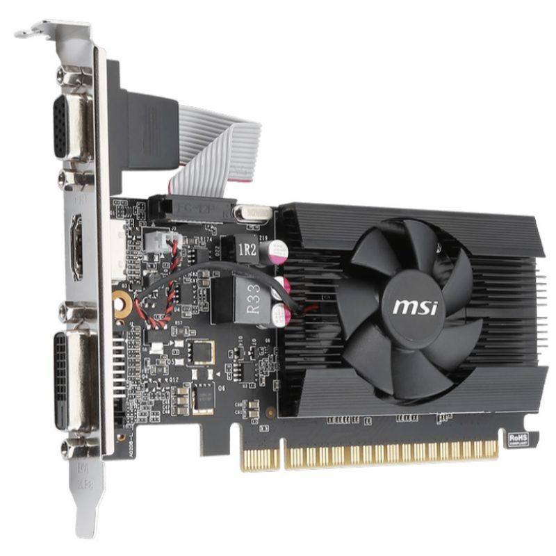 Tarjeta de Video MSI GT710 2GB DDR3 PCI Express C/Bajo Perfil 2