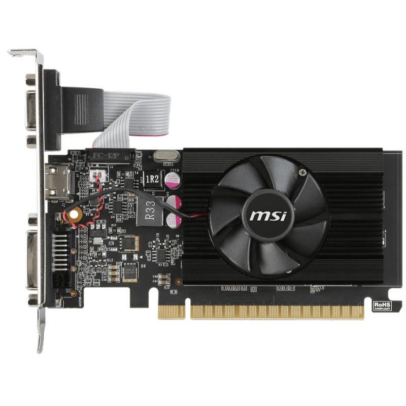 Tarjeta de Video MSI GT710 2GB DDR3 PCI Express C/Bajo Perfil 3
