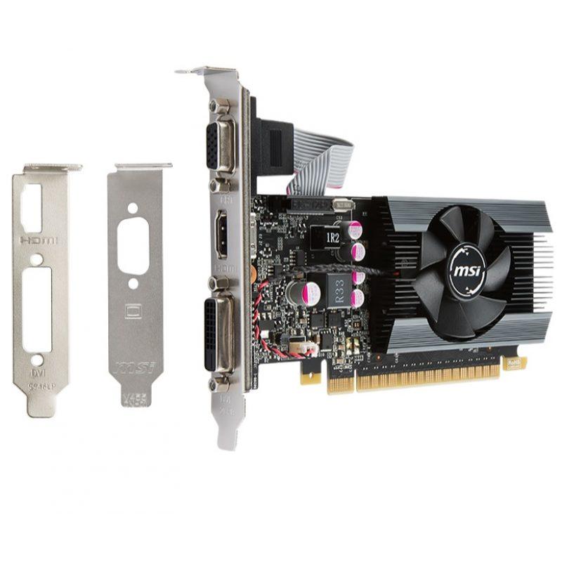Tarjeta de Video MSI GT710 2GB DDR3 PCI Express C/Bajo Perfil 4