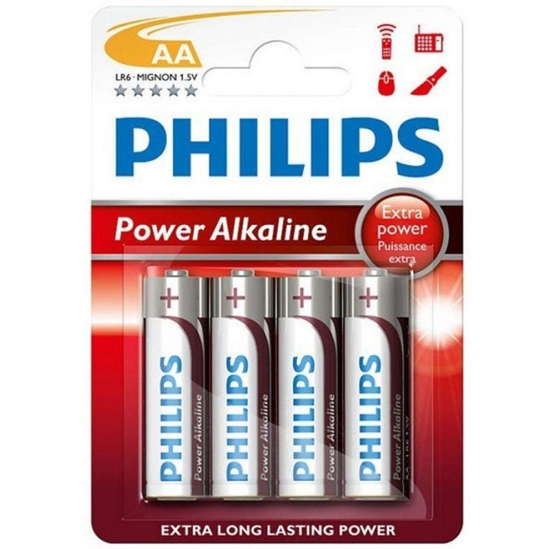 Pilas Alcalinas PHILIPS Power Life 1.5V AA Blister X4 Unidades 1