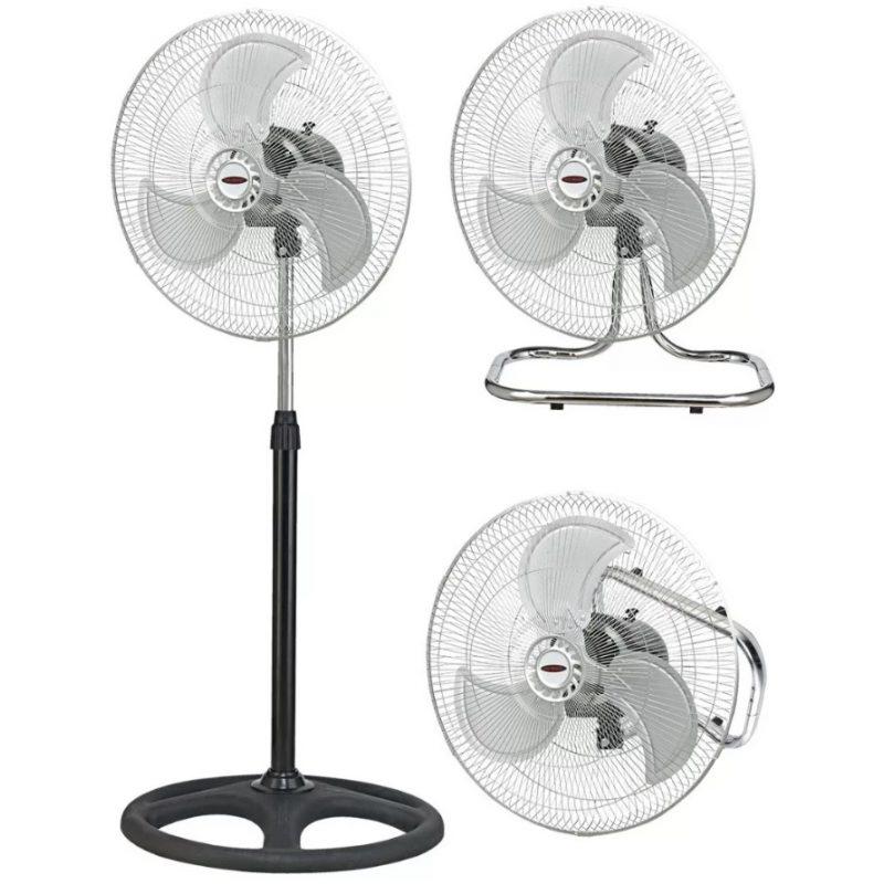 Ventilador Oditox 3 En 1 Pared Mesa Pie Turbo Aspa De Metal Alta Calidad 1