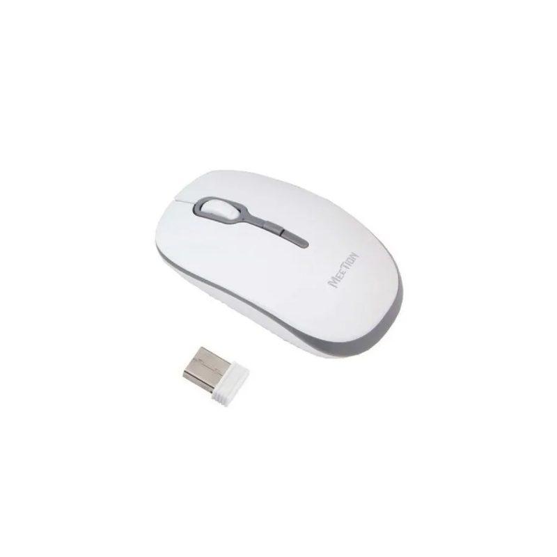 Mouse Optico Inalambrico Meetion MT-R547 Blanco y Gris 1