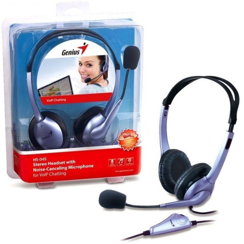 Auriculares Genius HS-04S con Microfono y Anulacion de Ruido 1