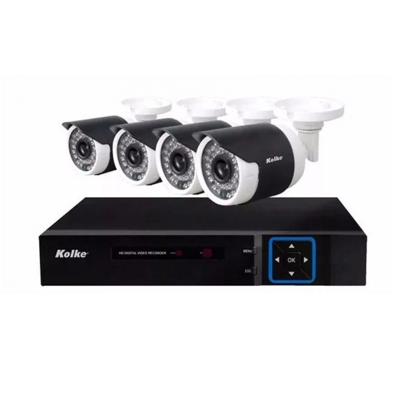 Kit Camaras de Vigilancia DVR Kolke KUK-013 4 Camaras 8 Canales HD Vision Nocturna 1