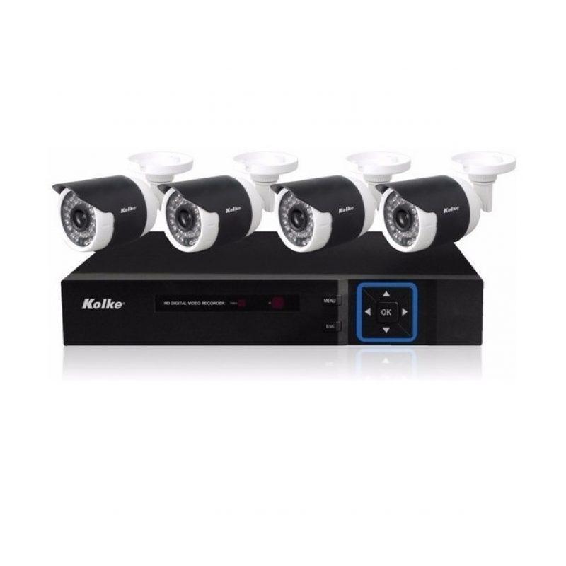 Kit Camaras de Vigilancia DVR Kolke KUK-013 4 Camaras 8 Canales HD Vision Nocturna 3