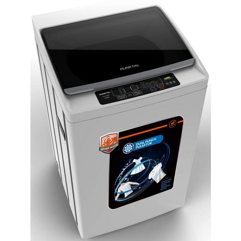 Lavarropas Punktal PK-06 Carga Superior 6Kg Tanque acero inox. 12 Programas de Lavado 2