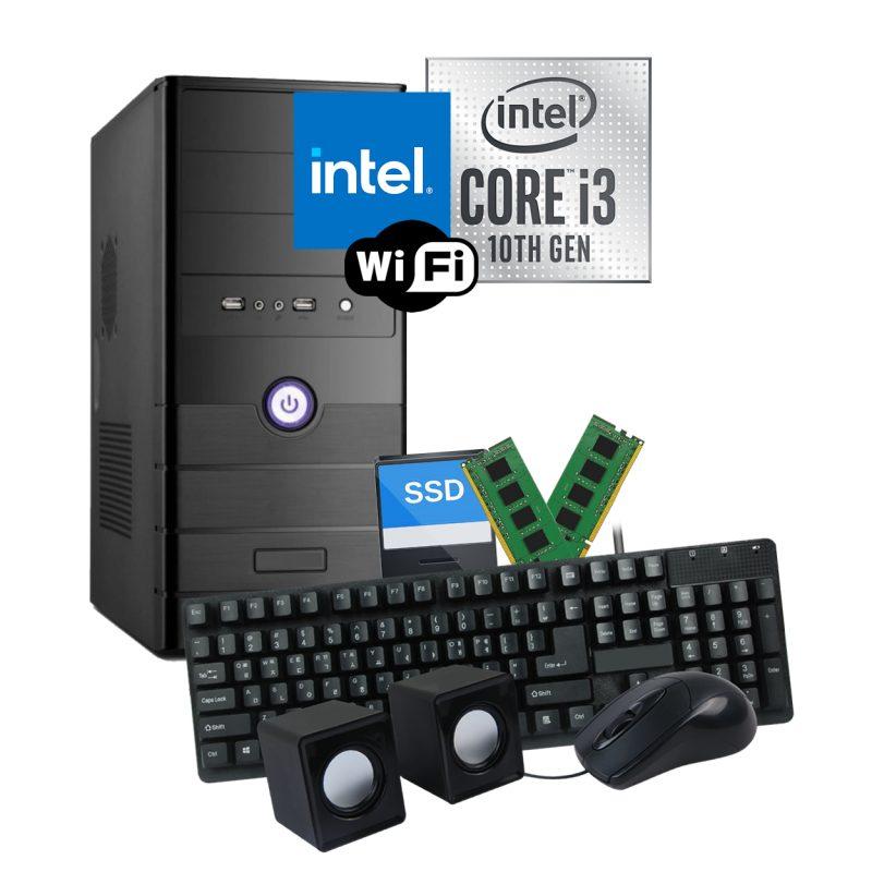 PC Computadora Intel Core i3-10100 8GB Ram DDR4 240GB SSD WiFi 1