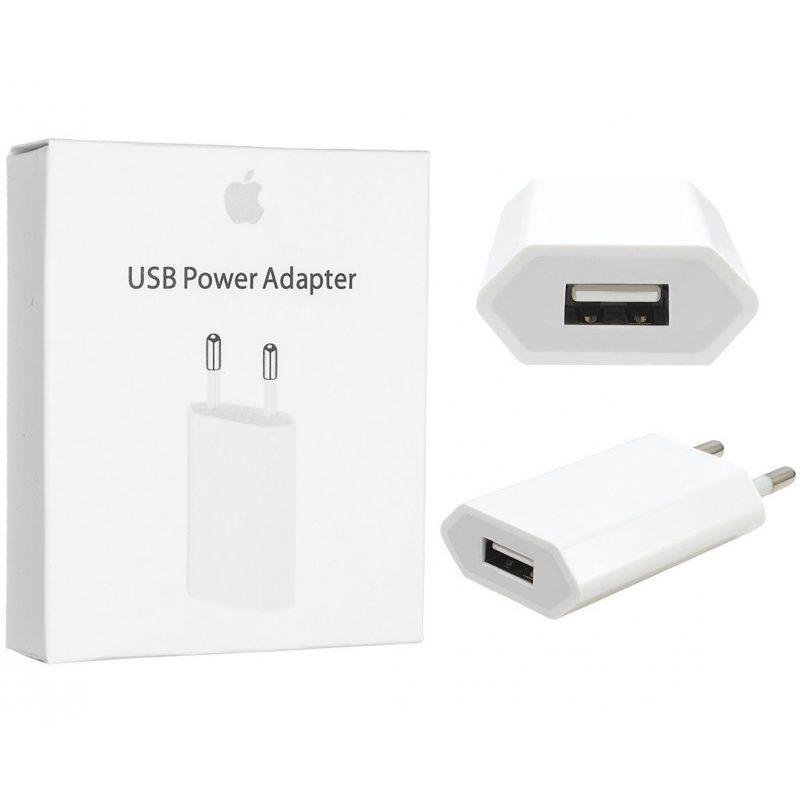 Cargador Apple MD813 5W iPhone Original USB a Corriente 220v 1