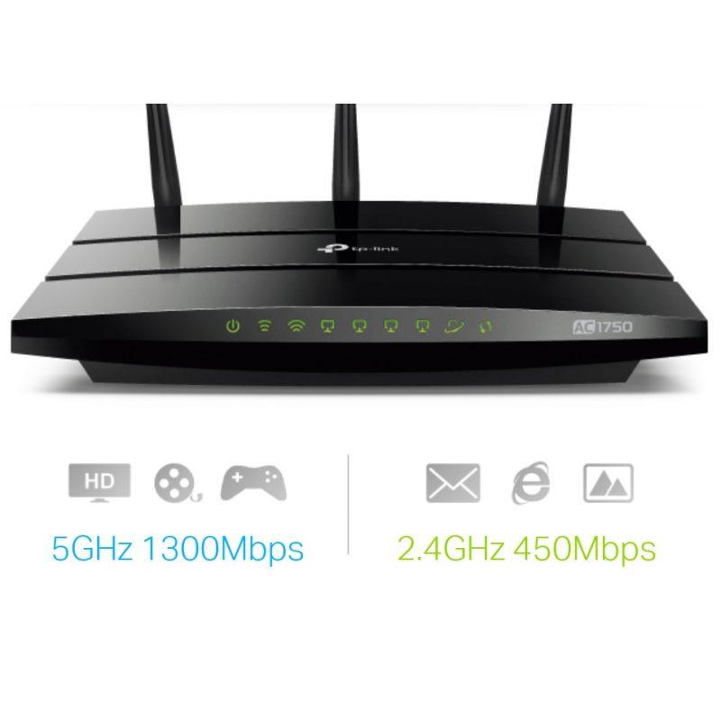 Router TP-Link Wireless Gigabit ARCHER C7 AC1750 Doble Banda WiFi 1300Mbps 3 Antenas 3