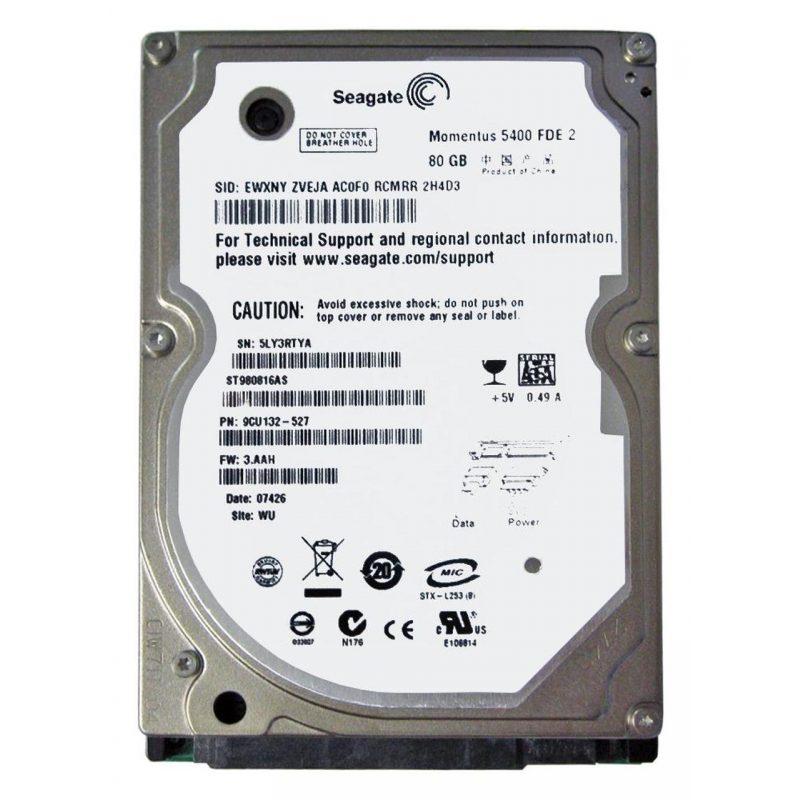 Disco Duro Sata 80 GB 2.5'' Para Notebook / Netbook Refabricados Varias Marcas 2