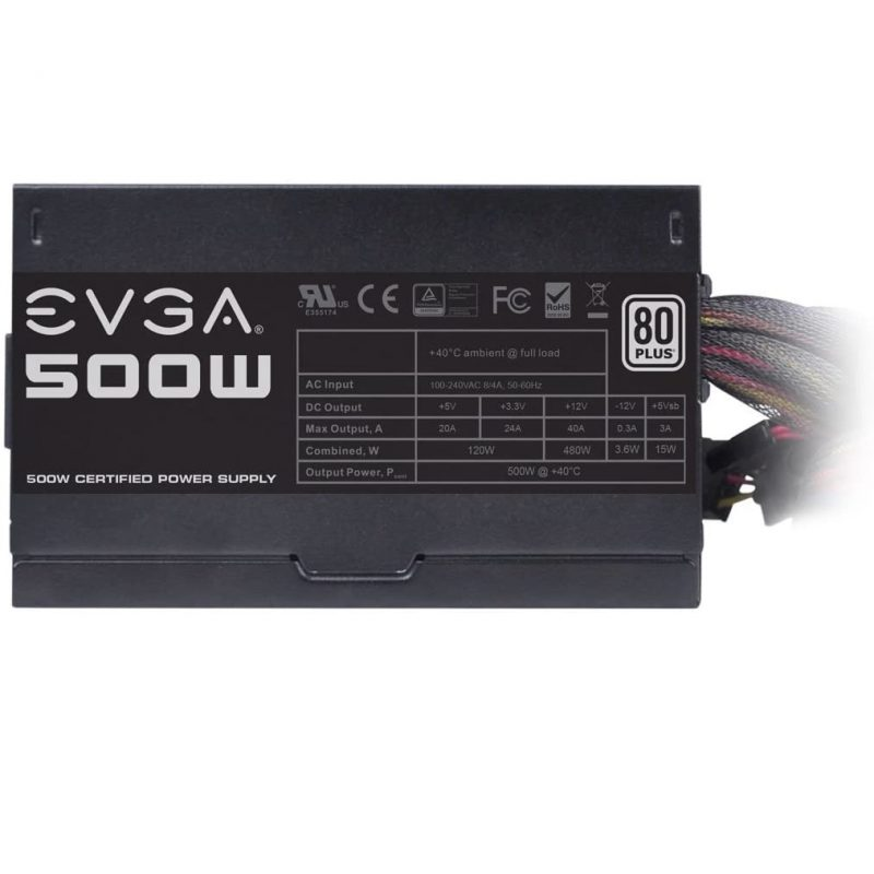 Fuente EVGA 100-W1-0500-KR 500w Reales 80 PLUS White 3