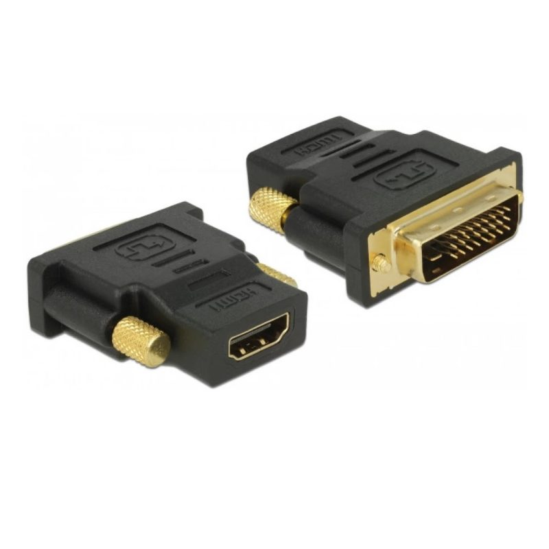 Ficha Adaptador DVI-D Duallink 24+1 (Macho) a HDMI (Hembra) 1