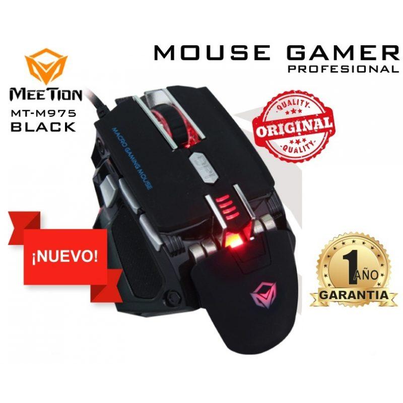 Mouse Optico USB Gamer Meetion MT-M975 LED Ajustable - Negro 4