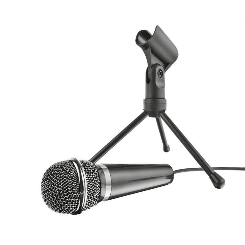 Microfono Trust Starzz Omnidireccional con Tripode Cable 2.5M de 3.5mm 3