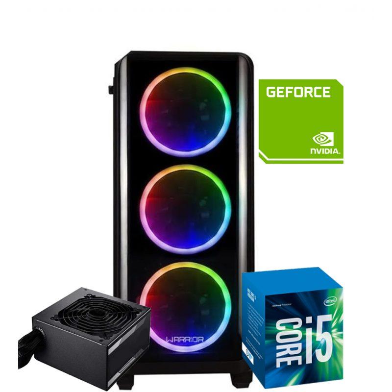 PC Computadora Gamer Warrior Core i5-2400 12GB RAM 240GB SSD + Tarjeta de Video GT1030 2GB DDR5 1