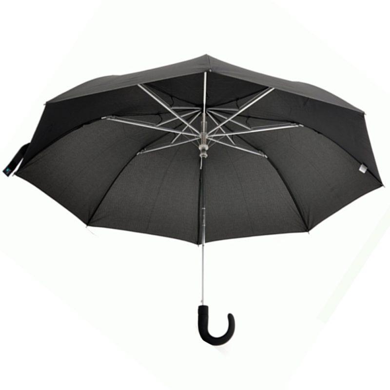 Paraguas Negro Liso de Mango largo en aluminio Automático 1