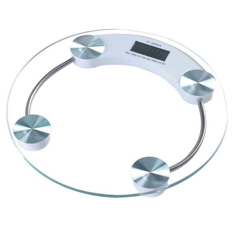 Balanza de Baño digital de Vidrio Templado Hasta 180Kg. 26cm. Diametro 1