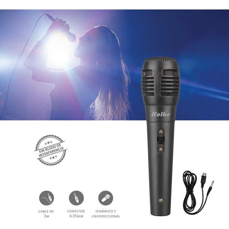 Microfono con Cable QIN DA DM-701 Karaoke 2