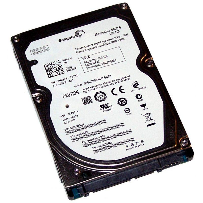 Disco Duro Sata 160 GB 2.5'' Para Notebook / Netbook Refabricados Varias Marcas 2