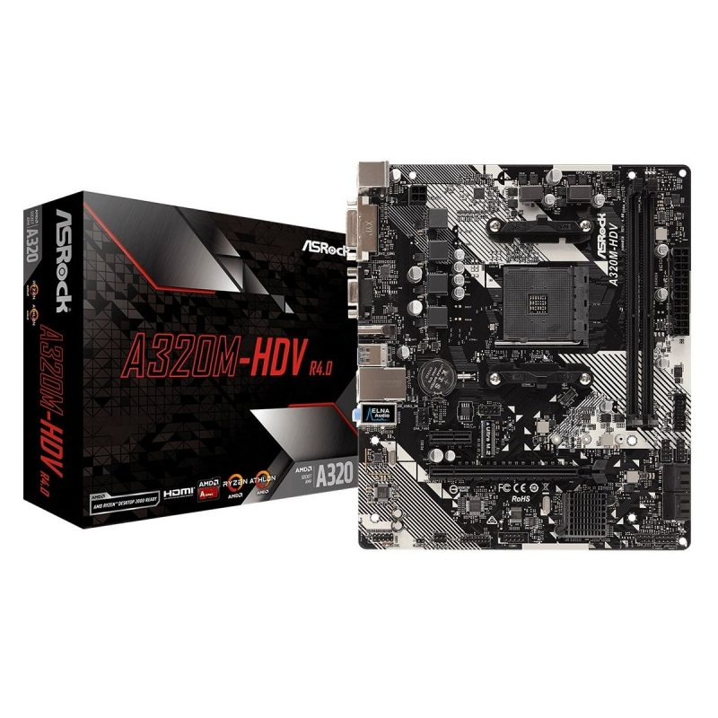 Motherboard ASRock A320m-hdv Am4 R4.0 AMD Socket AM4 A-Series Ryzen 1
