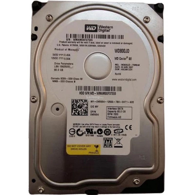 Disco Duro 3.5' 80 GB Sata - Usado 4